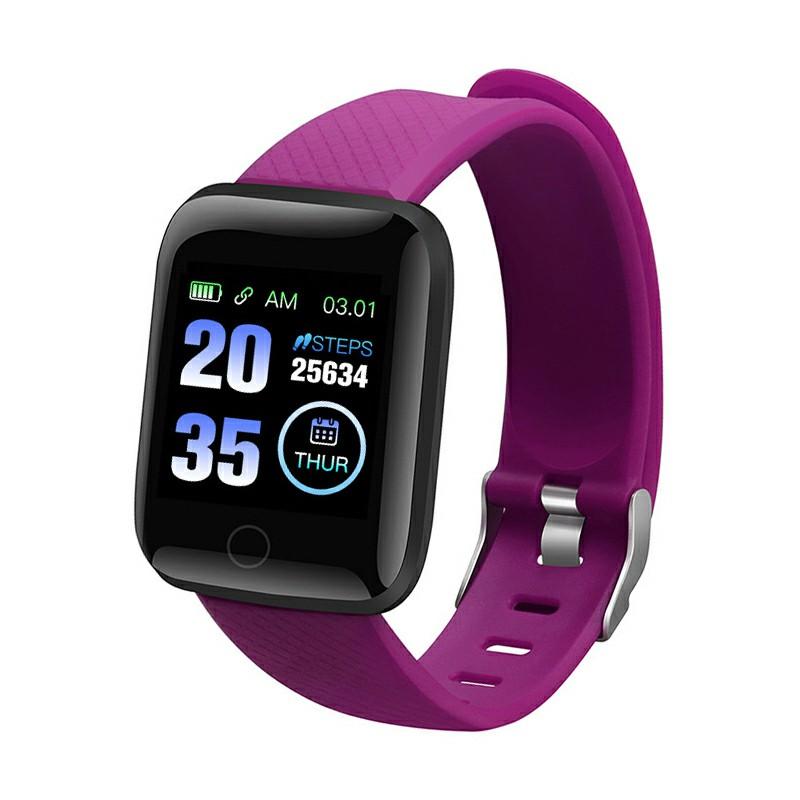116plus Smart Watch Sport Monitor Measure Blood - Purple