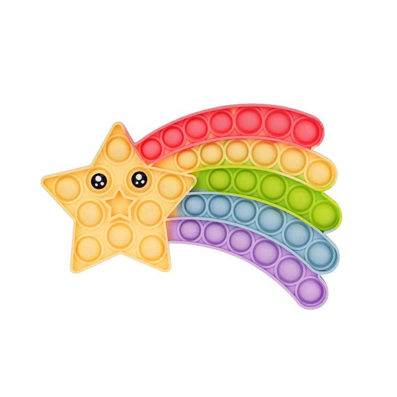 Pop it Fidget a Loud Side and a Quiet Side to Pop - Rainbow Stars