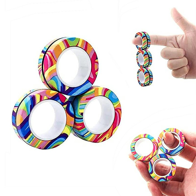 Magnetic Bracelet Ring Unzip Magical Ring - Striped Camouflage