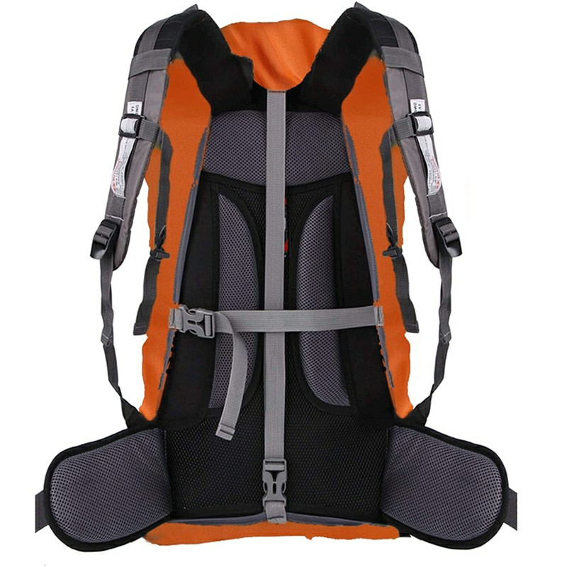 Outdoor Reflective Function Waterproof Dustproof Backpack Rain Cover Shoulder Bag Cover Orange - XS