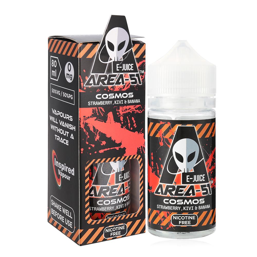 Area 51-Nicotine Free Cosmos E-liquid-50/50 PG/VG-80ml