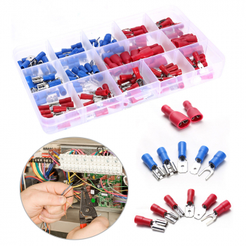 40 pcs Assorted Insulated Electrical Wire Terminals Crimp Connectors