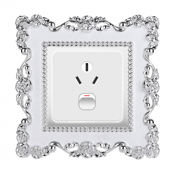 Rose Framed Switch Cover Room Decoration
