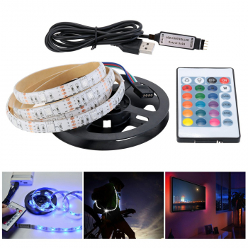 4M USB LED Strip TV Back Lamp 5050 RGB Color Changing + Remote Control