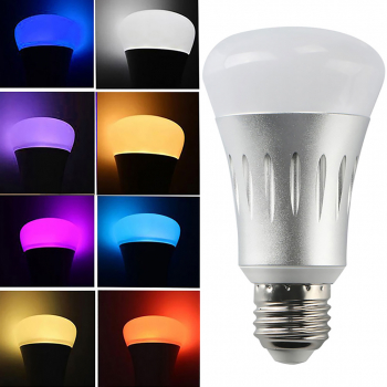 E27 Smart Bulb Wireless WiFi APP RGB Dimmable LED Lamp Alexa Google Home CE Certification