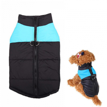 Comfy Soft Dog Vest Jacket Winter Waterproof Warm Coat Size XL - Blue