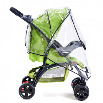 Universal Infant Stroller Rain Dust Shield Cover with Zipper