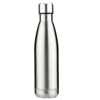 750ML Stainless Steel Vacuum Insulated Water Bottle Glossy - Silver