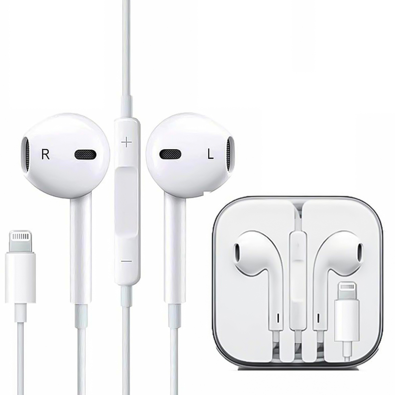 iPhone Lightning Bluetooth Wired Earphones for iPhone 7/8/X iPad iPod iOS System