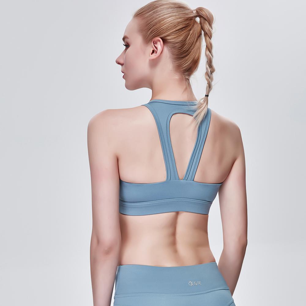 Sports Bra Running Fitness Yoga Bra - Blue L