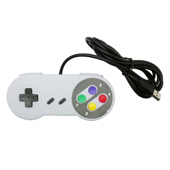 SNES Wired Game Controller Cross Button Gamepad
