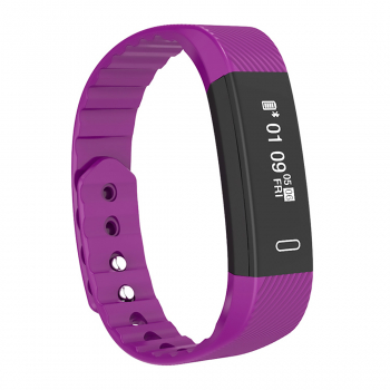 Smart Bluetooth Sport Wrist Watch Touch Screen for iOS Android - Purple