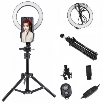 20cm LED Dimmable Ring Light Kit for Youtube Live Stream Live