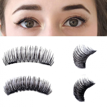4pcs 3D Double Magnetic Fake Eyelashes No Glue Reusable - 24P
