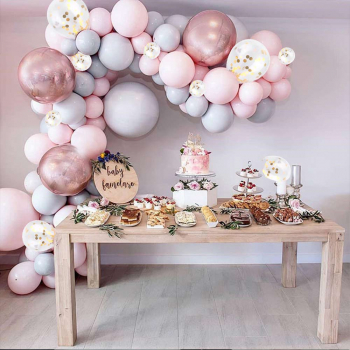 174 pcs Confetti Balloons Arch Kit Macaron Balloon Party Garland
