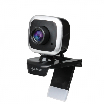 480P Rotatable Web Camera Built-in Microphone - Silver
