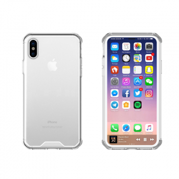 TPU Bumper Grip + Acrylic Phone Case for iPhone X/XS - Transparent