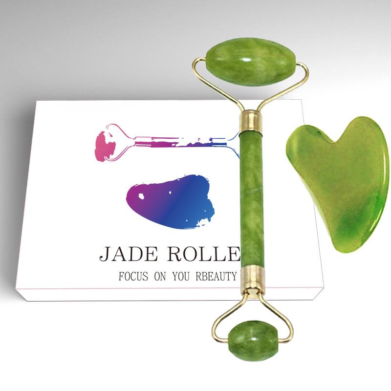 Jade Roller with Gua Sha Scraper