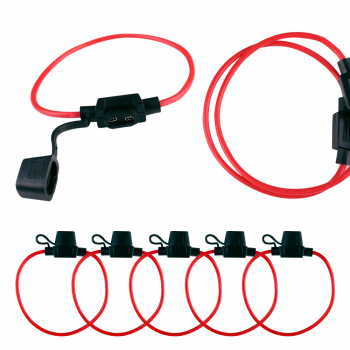 5 pcs Inline Blade Fuse Holder to Accept 12V 30A   Splash Proof for Car Bike