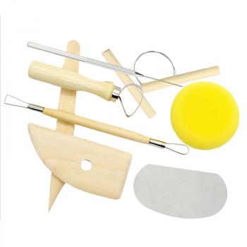 8 Pcs/set Ceramic Polymer Pottery Clay Tools Set  Wooden