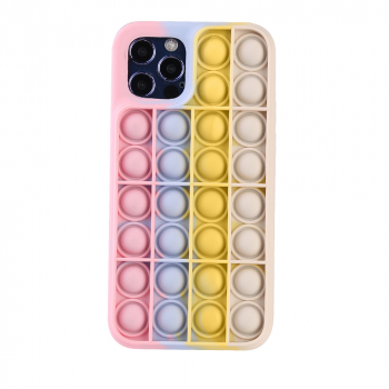 3D Fidget Rainbow Soft Silicone Case for iPhone 12