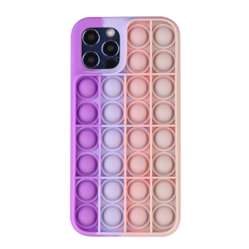 Pop it its Push Bubble Shockproof Soft Silicone Case for iPhone 12