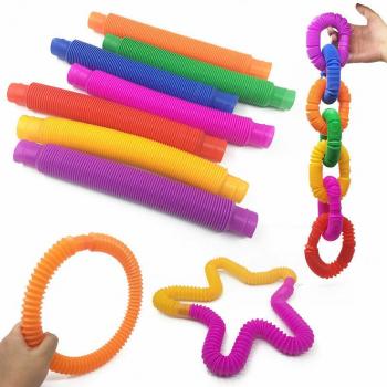 6 Pieces Mini Pop Tubes Relieve Stress Product - 2cm