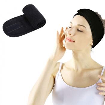 Spa Makeup Yoga Sports Headband - Black