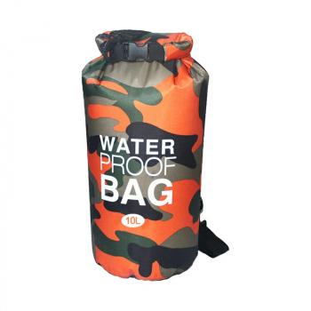10L Camouflage PVC Waterproof Dry Bag - Orange
