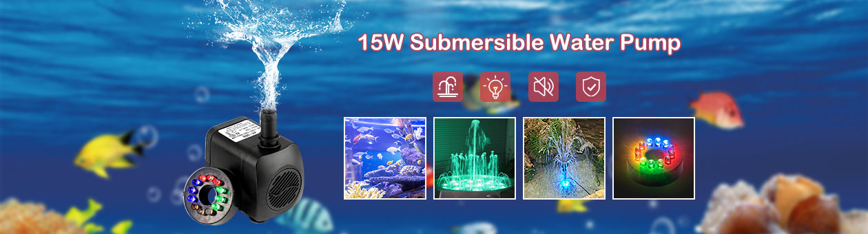 15W Submersible Water Pump