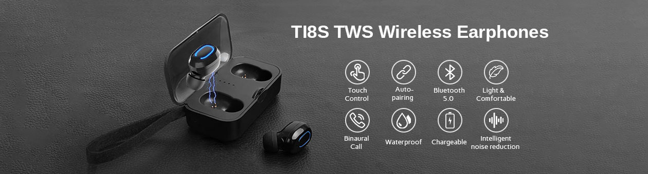 TI8S TWS Wireless Earphones