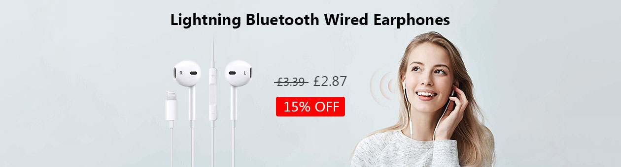 Lightning Bluetooth Wired Earphones