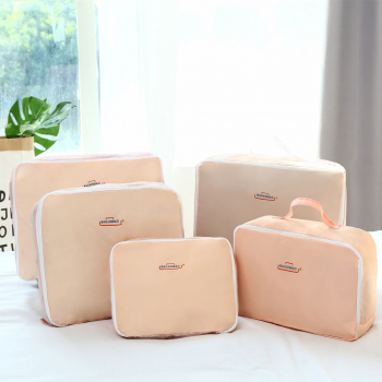 5 pcs Travel Sorting Bag Suitcase Tidy Organizer - Pink